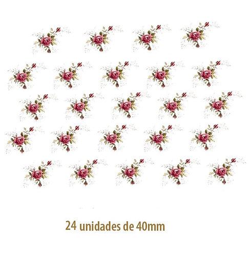 Little Pink Rose - 40mm