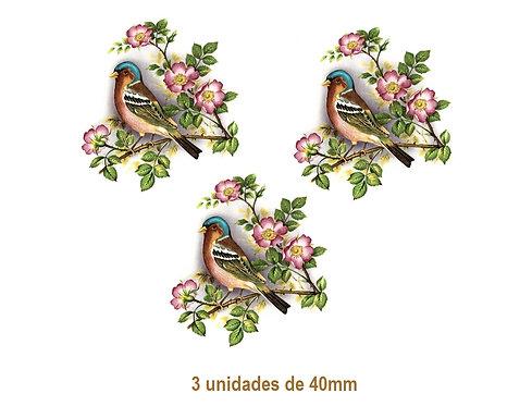 Bird on Rosebush - 40mm