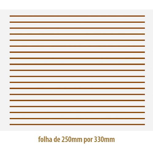 Filete Ouro 02 - Porcelana