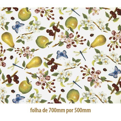 Tapete - Floral com Frutas