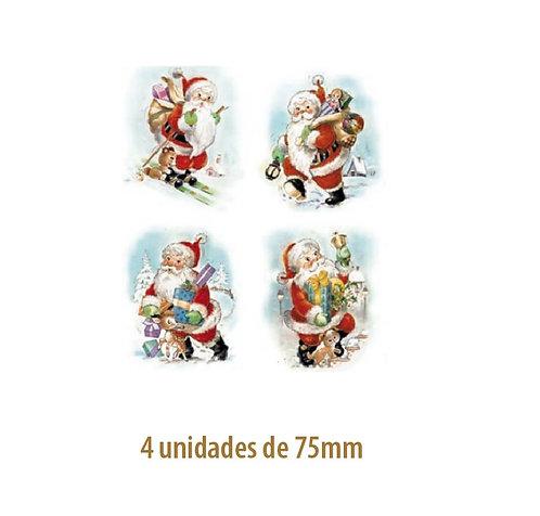 Papai Noel (4 modelos) - 75mm
