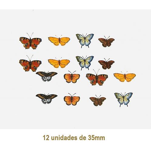 Mix of Butterflies - 25mm