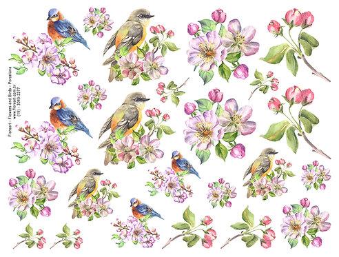 Flowers and Birds - Vidro
