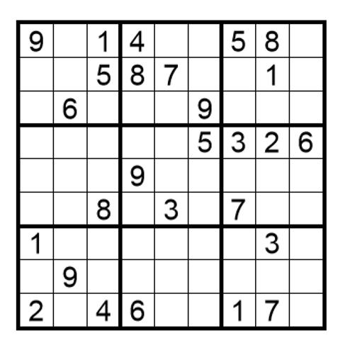Sudoku moeilijk 12