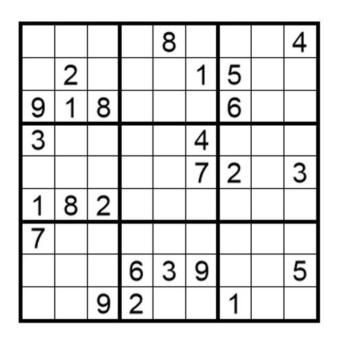 Sudoku moeilijk 13