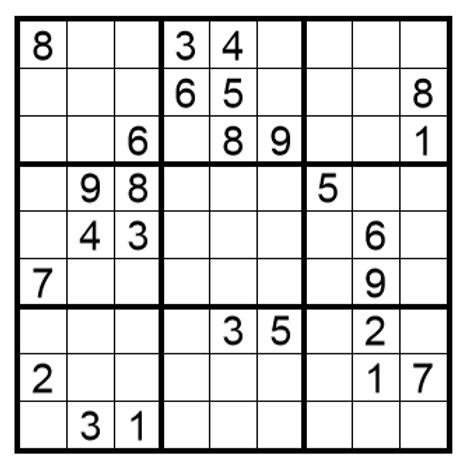 Sudoku moeilijk 16
