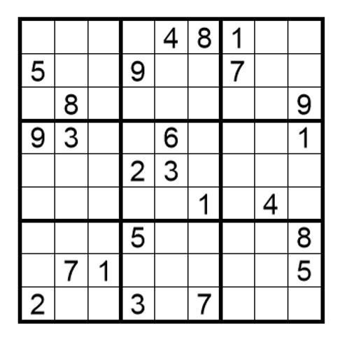 Sudoku moeilijk 18
