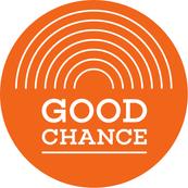 GOOD CHANCE LOGO_White on orange copy -