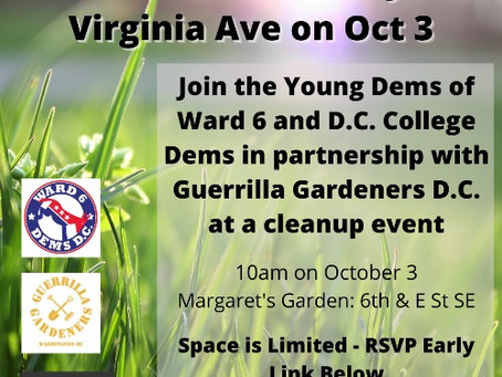 #DemocratsCare - Get Your Hands Dirty with YDW6, Sunday, October 3
