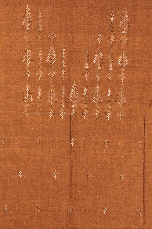 Cotton Kurti Material-Light Brown