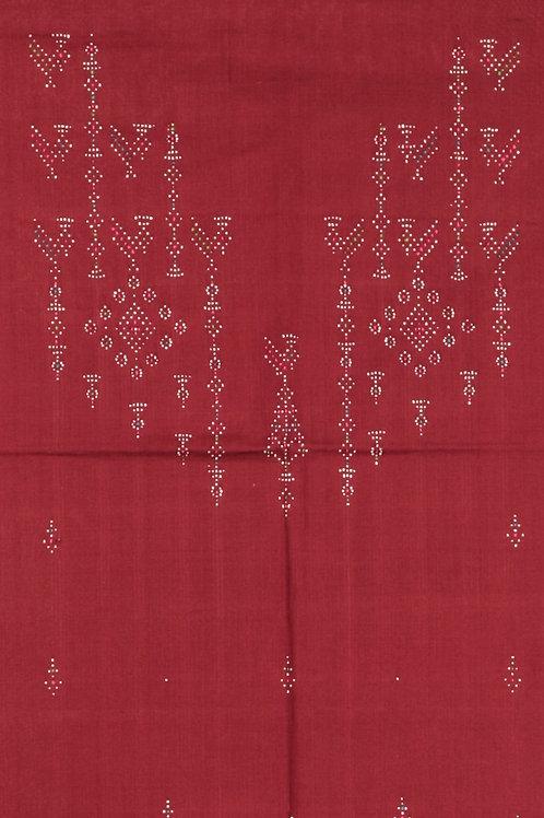 Cotton Kurti Material-Red