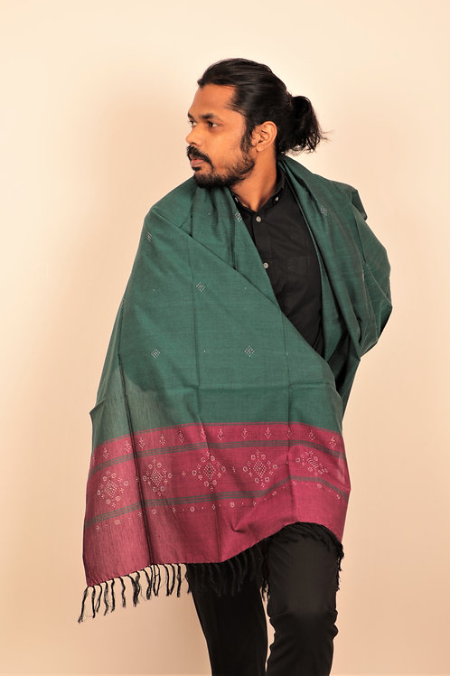 Jam Purple and Pine Green Stole