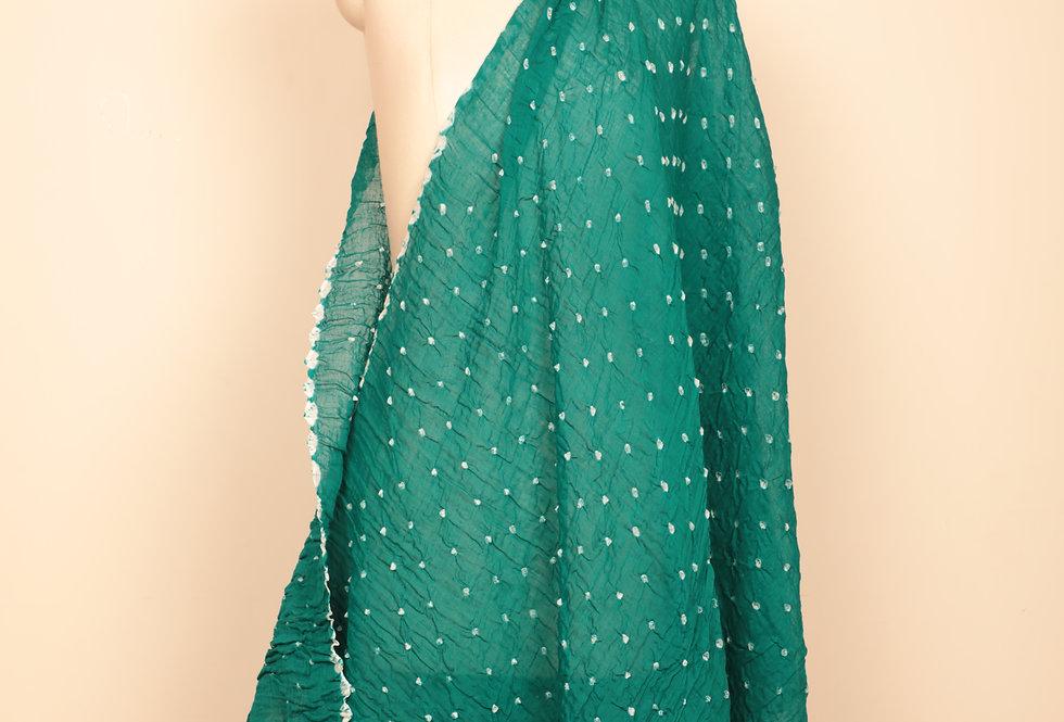 Teal Green Bandhani Dupatta