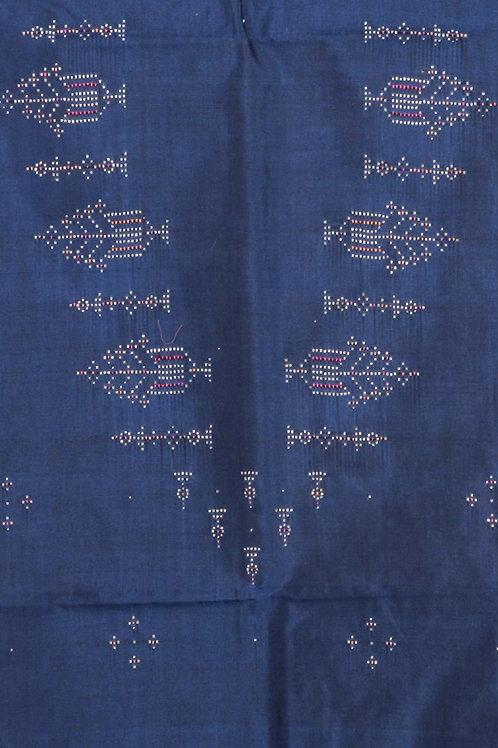Cotton Kurti Material-Blue