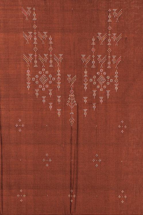Cotton Kurti Material-Brown