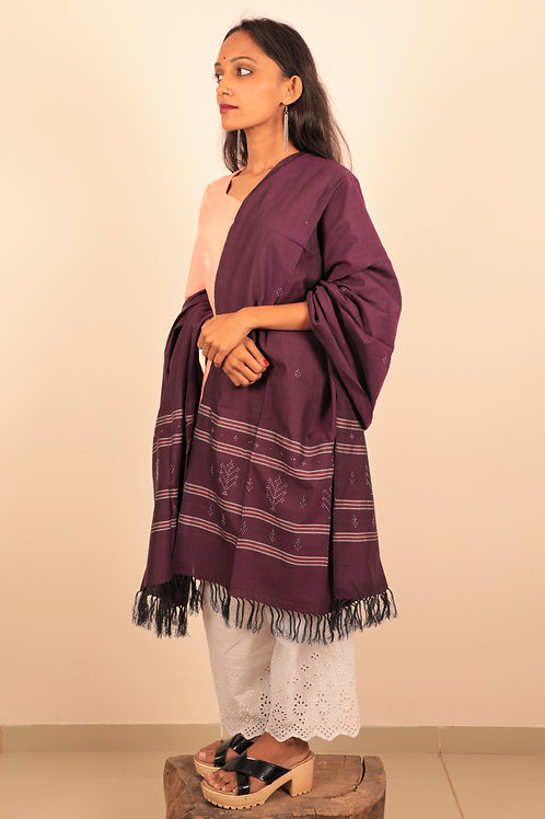 Wine Berry Stole