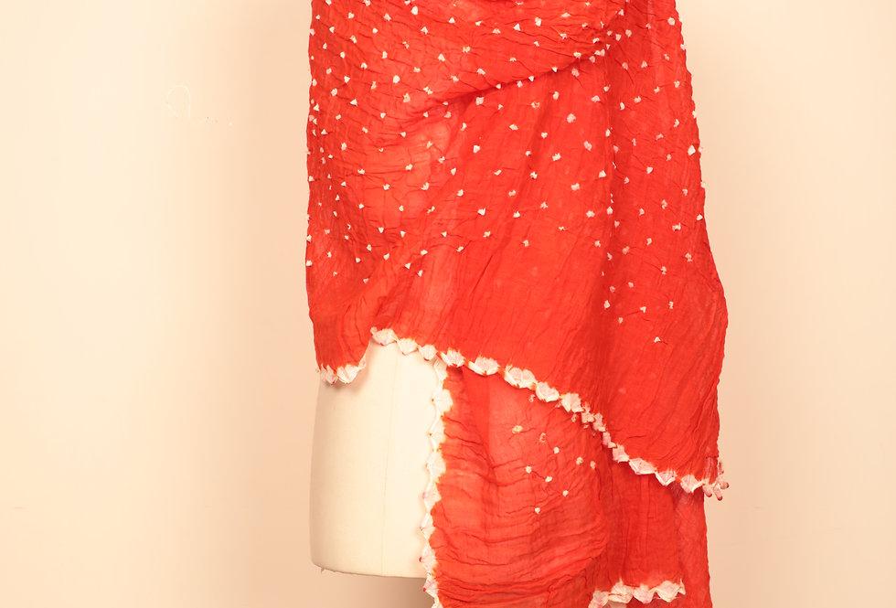 Orange Bandhani Dupatta