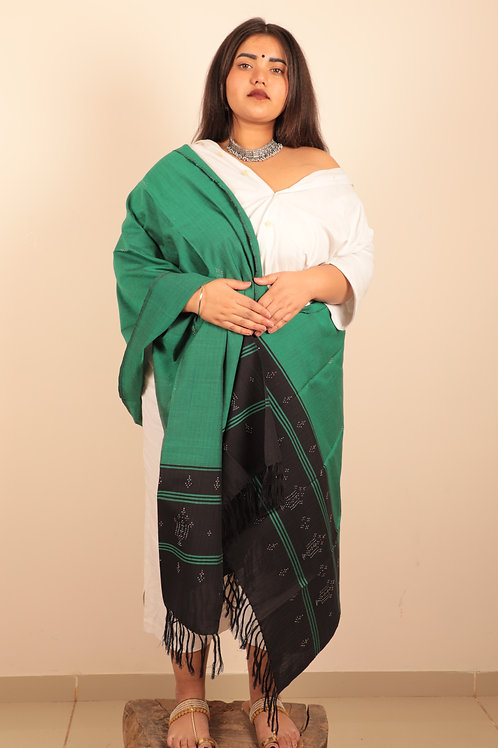 Black and Persian Green Stole