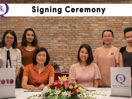 Signing Ceremony of Memorandum of Understandings between QTS & KOTO.