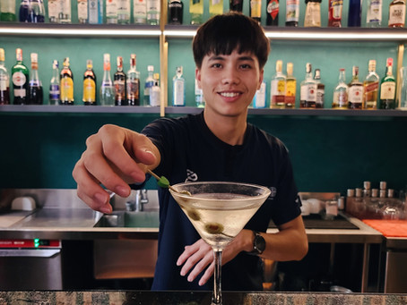 A dry martini with a Mu Cang Chai twist