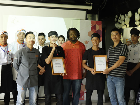 KOTO trainees - Hieu and Ngoc from K33 win the inaugural ICB culinary competition!