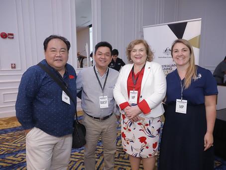Jimmy Pham gives the keynote speech at the inaugural Australia Vietnam Skills Conference