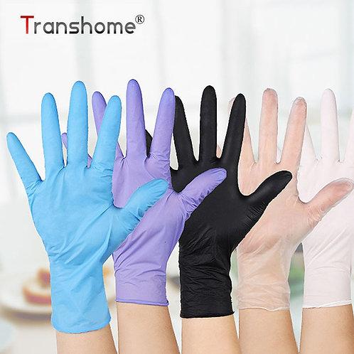 Transhome 20pcs Disposable Gloves Latex  /Work/Rubber/