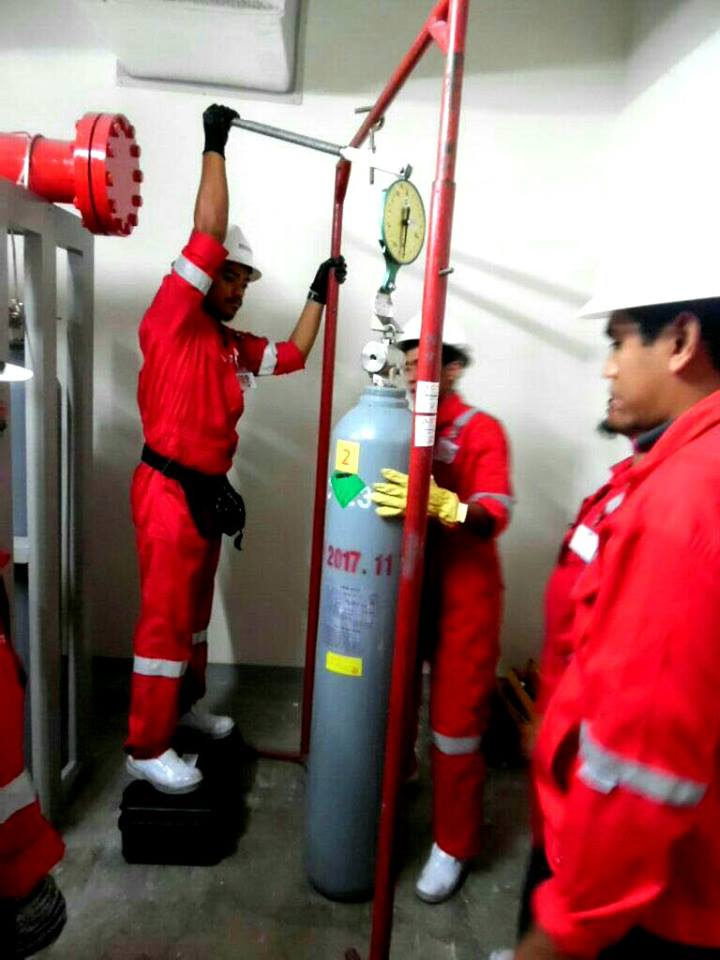 Fire contractor timbang