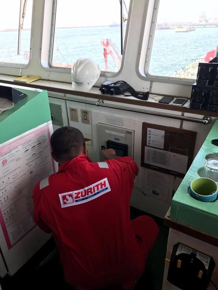 Fire contractor kapal