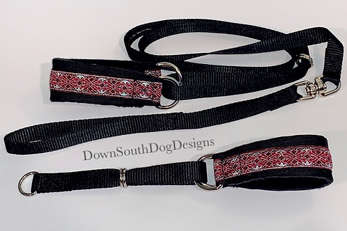 Martingale: Burgundy and Silver