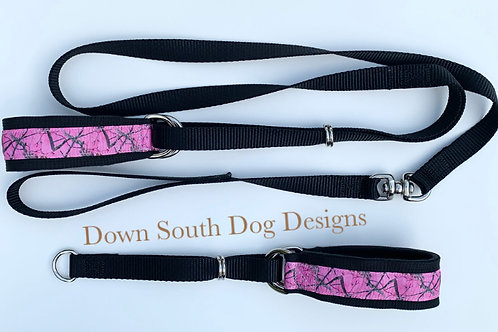 Martingale: Camouflage Pink on Black