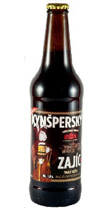 "Пиво "" Kynšperský Zajíc"" Темное специальное нефильтрованное"