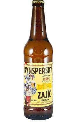 """Пиво """" Kynšperský Zajíc"""" Светлое лагерное нефильтрованное"""