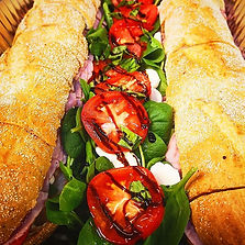 Some delicious capicola sandwiches with