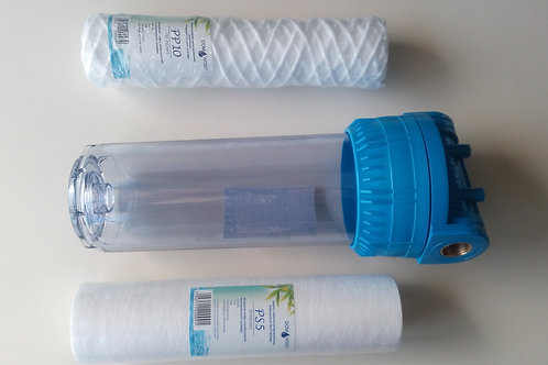 Water filter housing for general water filtration.