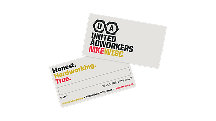 United Adworkers Membership Cards