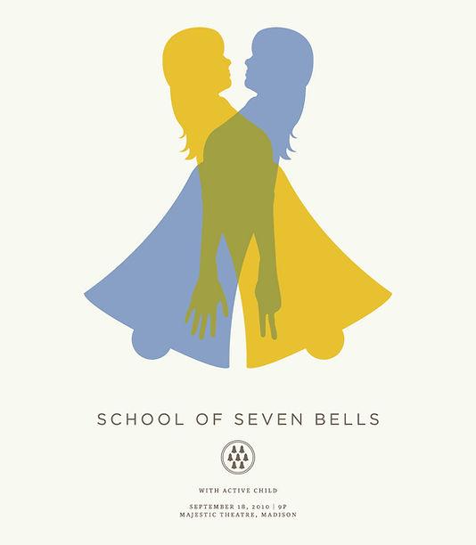 School of Seven Bells Gig Poster