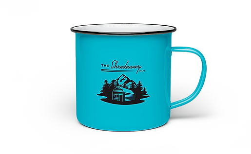 The Shredaway Blue Mug Design