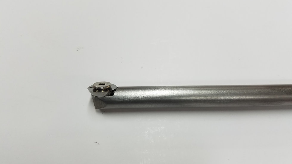 """3/8"""" Finisher Round Stainless Steel Bar with 12mm Finisher Insert"""