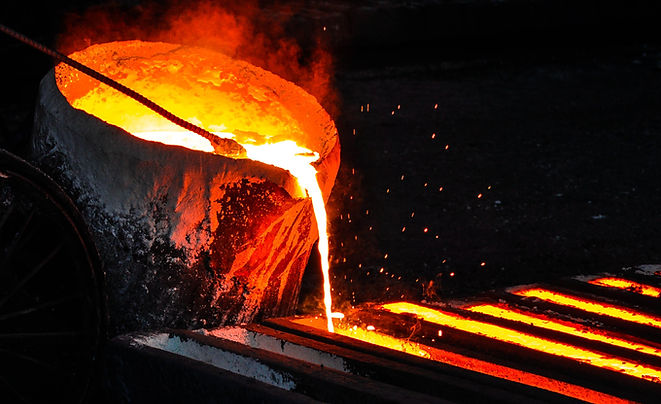 Foundry Pouring Molten Metal