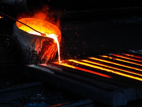 Don't kick molten steel!
