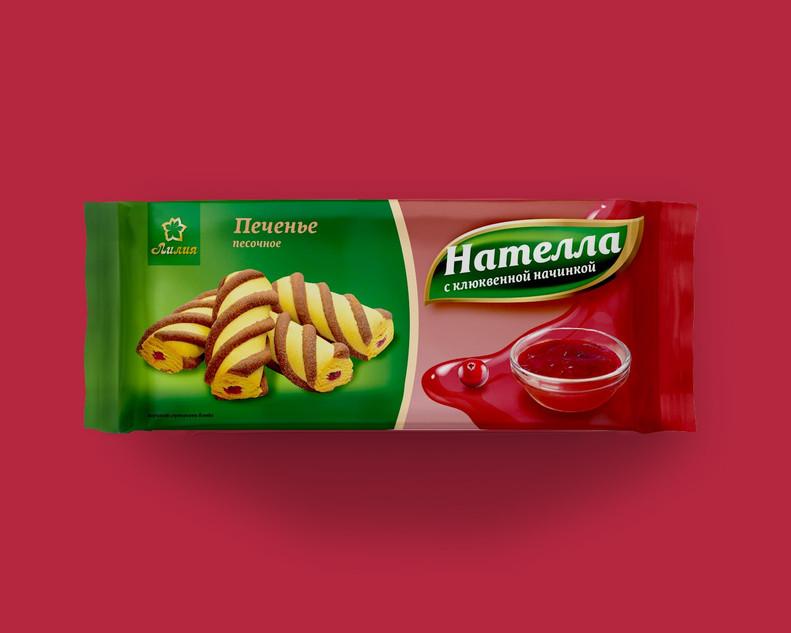 Аппетитный дизайн упаковки печенья