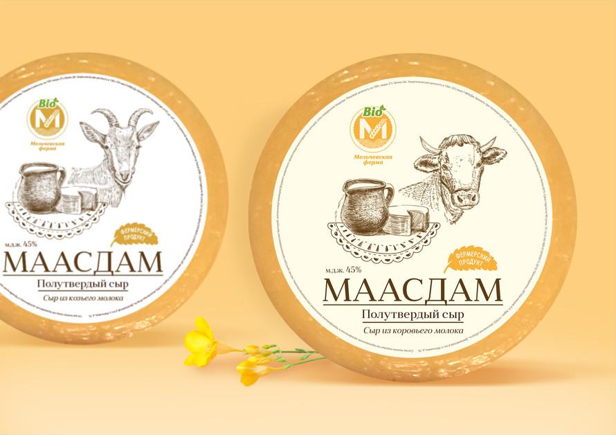 Дизайн этикетки сыра
