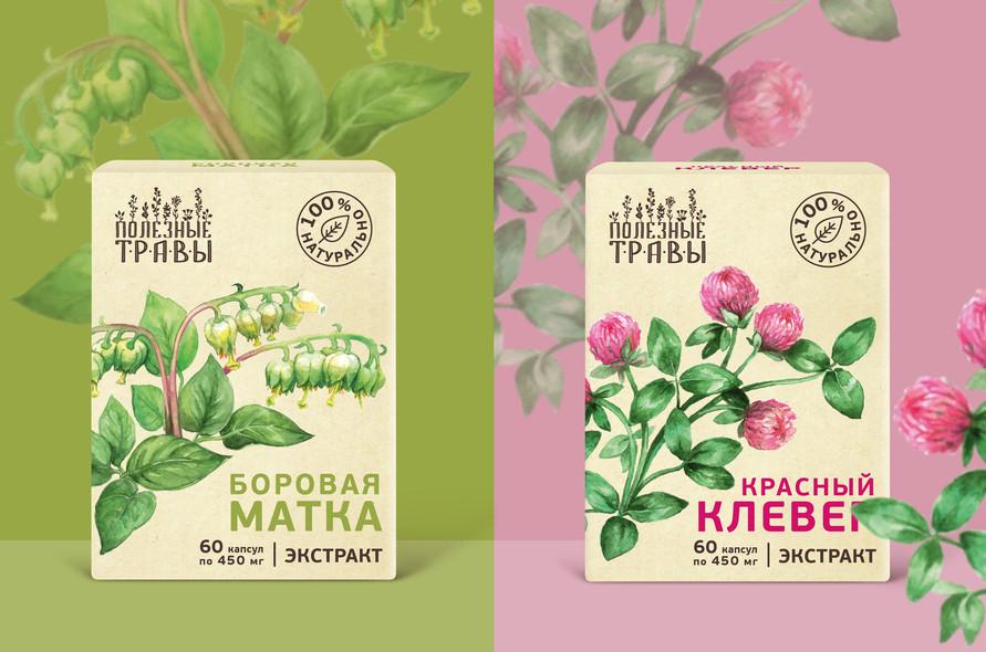 Индивидуальный дизайн упаковки для аптечных трав
