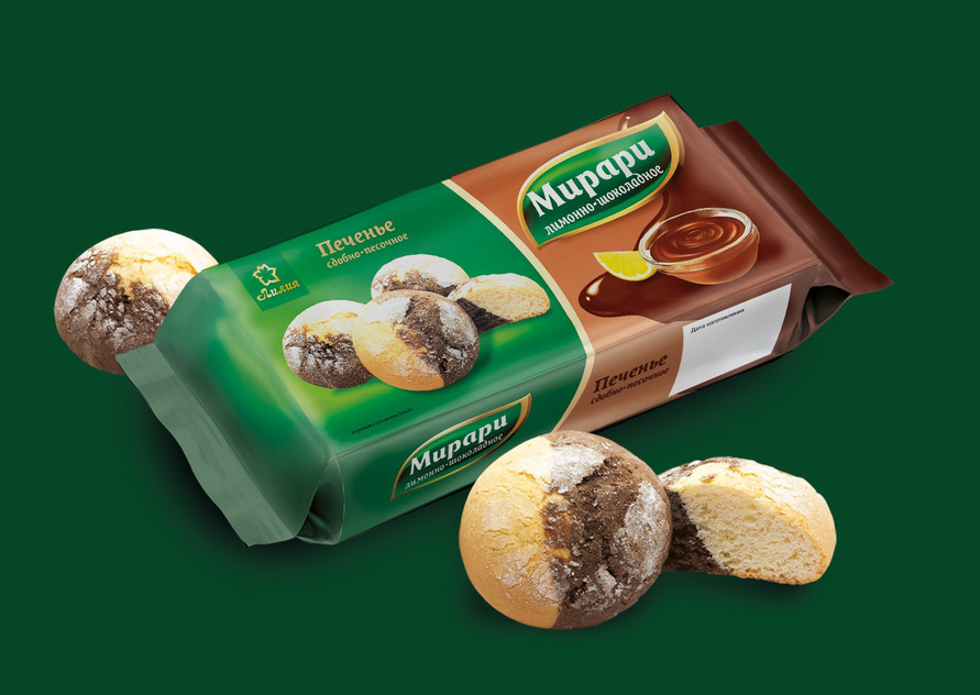 Традиционный дизайн упаковки сдобного печенья