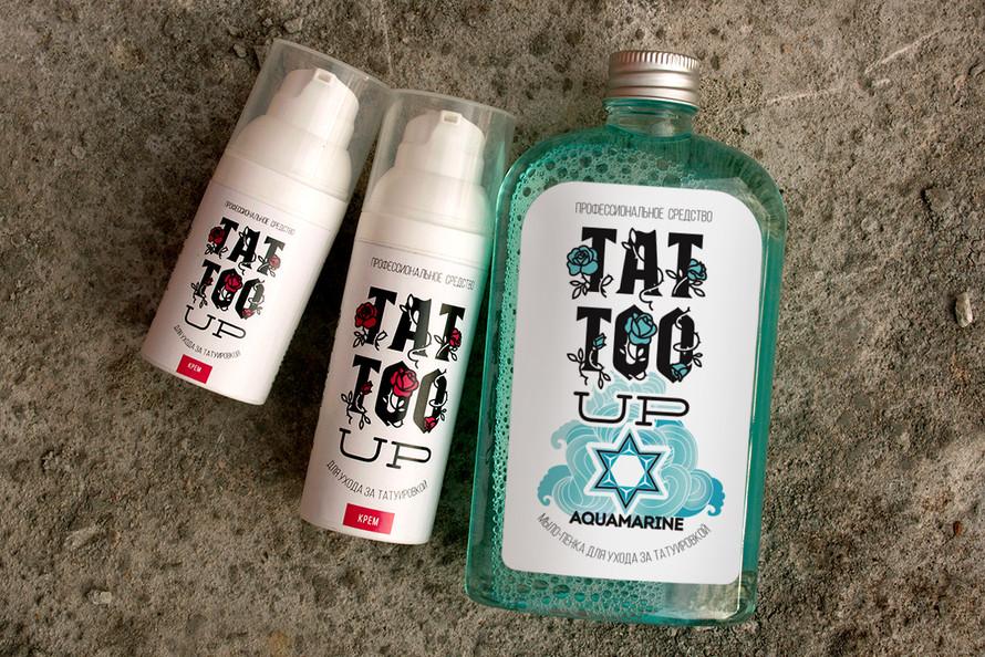 Дизайн упаковки средств по уходу за татуировкой