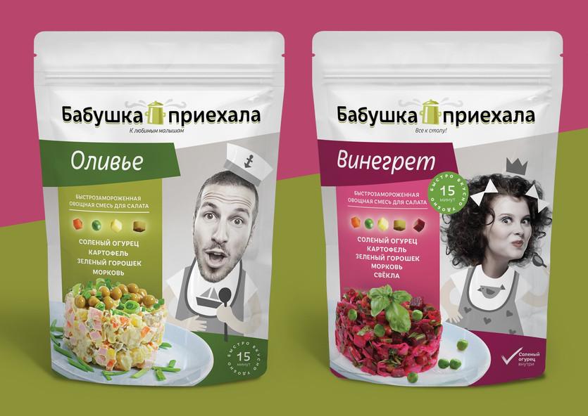 Яркий дизайн упаковки для овощной смеси