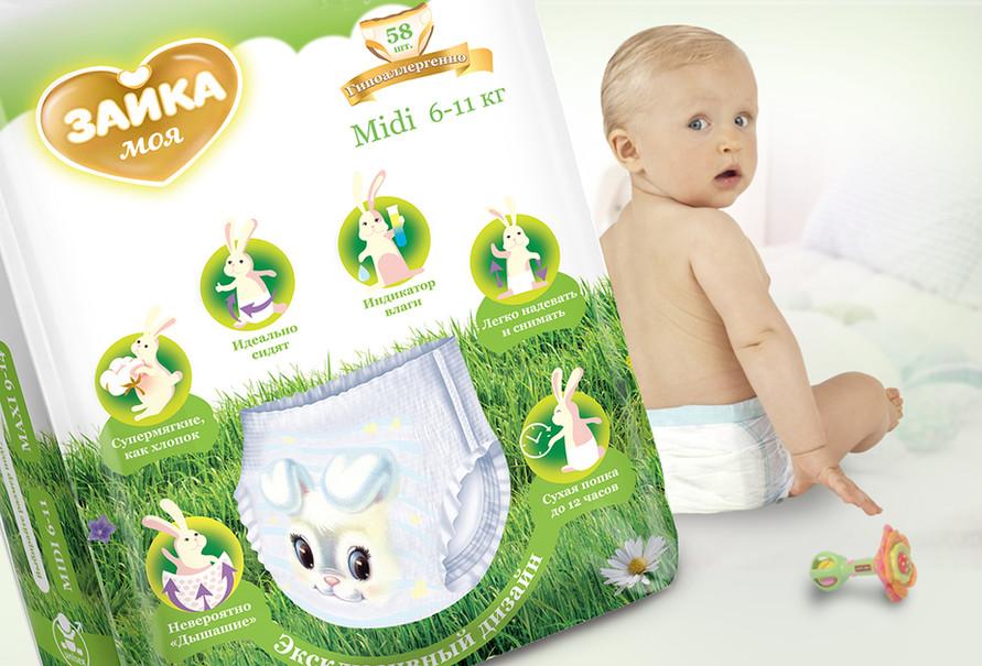 Инфографика на упаковке детских товаров