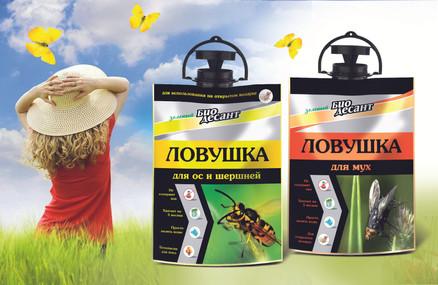Дизайн упаковки средств от насекомых