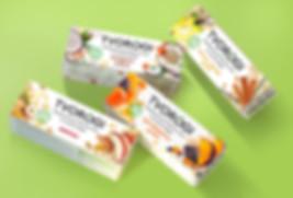 Творожный продукты. Европейский дизайн упаковки.